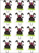 12x Halloween Witches STAND UPS PREMIUM RICE PAPER Edible Cake Toppers
