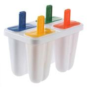 Buytra Ice Cream Freezer Popsicle Maker Ice pop Mould 4Pcs