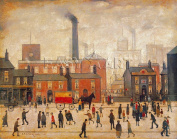Coming Home from the Mill Art Poster Print by Laurence Stephen Lowry, 77x64