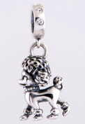 Poodle Pendant for Pandora Jewellery or Similar 100% 925 Sterling Silver