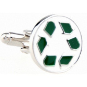 Recycle Logo Novelty Gift Boxed Wedding Cufflinks Cuff Links For Groom Perfect Gift