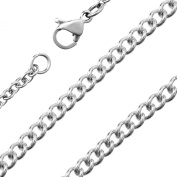 Urban Male 18in Polished Stainless Steel 1.5mm Curb Link Chain for Men