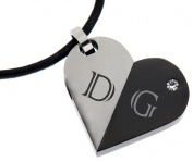 Stainless Steel Pendant, Movable, with Your Engraving - By Internationally Connexion