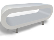 White Gloss and Matt Grey Hoop Coffee Table / TV Stand in Various Sizes