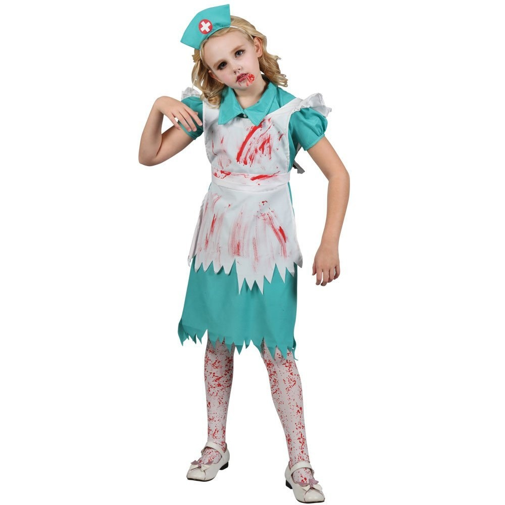 e9946c0121f4a XL) Girls Zombie Nurse Halloween Costume for Fancy Dress Childrens ...
