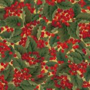 Entertaining with Caspari Continuous Gift Wrapping Paper, Christmas Berries Roll, 2.7m, 1-Roll