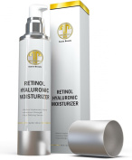 Best Anti Ageing & Anti Wrinkle Cream HUGE 120ml - Face & Night Firming Moisturiser w/ Retinol, Hyaluronic Acid, Shea Butter, Jojoba Oil. Anti Ageing Serum & Cleanser for Sensitive Skin for Men & Women