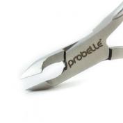 Probelle Cuticle Nipper Stainless Cobalt - Half Jaw Nipper- Long Lasting Durable Premium Tool -Designed for Fingernails and Toenails