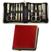 World No. 1, Three Seven 777 Travel Manicure Pedicure Grooming Kit Set, (Total 11 PC, Model