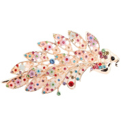 Fashion Women's Vintage Crystal Peacock Purple Hair Clip Beauty Tools for Head Wear