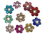 Moeni Bridal Wedding Prom Crystal Rhinestone Hair Styling U Pins - 10 Pins