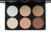 LEFV™ Cosmetics Professional 6 Colours Contour Face Power Foundation Makeup Palette Light to Medium Bronzer