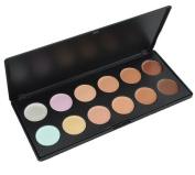 LEFV™ Professional Concealer Camouflage Foundation Makeup Palette Contour Highlighter Face Contouring Kit Mix 12 Warm Colours