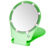 Floxite 5x Magnifying 360 Degree Lighted Home & Travel Mirror - Green