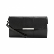 Style & Co. Ali Lizard Clutch With Wristle, Black