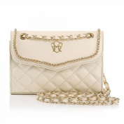 Greg Michaels Natalie in White Real Nappa Leather Shoulder Purse Handbag