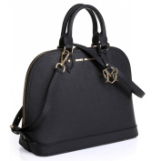 The Isabelle Tote in Black with embossed or w/o embossed Signature by Greg Michaels