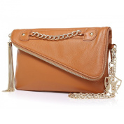 Greg Michaels Kayla in Tan Clutch Purse Handbag