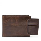 Fossil Derrick Sliding 2-in-1 Men's Wallet Dark Brown ML3685201
