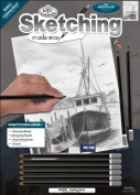 Fishing Boat Sketching Made Easy Kit - 23cm X 30cm , Fishing Boat Sketching Made Easy Kit - 23cm X 30cm . Do Fun And Mess-Free Sketching Using This Kit. It Contains A Very Lightly Pre-Printed 29cm X 8.75