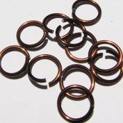 BROWN Anodized Aluminium Jump Rings 500 5/32 18g SAW CUT