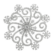 J Goodin Contemporary Fashion Style Snowflake Brooch For Women
