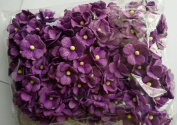 VIOLET 100 Mulberry paper 2 layer Flower Wedding Scrapbooking 2 cm