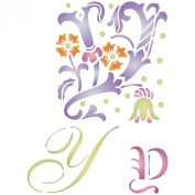 Initial Y Stencil (size 17cm w x 22cm h) Reusable Stencils for Painting - Best Quality Letter Wall Art Décor Ideas - Use on Walls, Floors, Fabrics, Glass, Wood, Cards, and More...