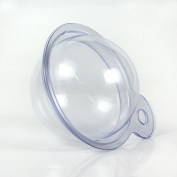 12 Packs of Medium Size Clear Plastic Bath Bomb Ball Mould - 5.4cm Diameter