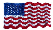 Mini Lace and Beaded Flag - HeartStrings Knitting Pattern #A91-5061