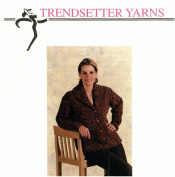 Trendsetter Yarns Knitting Pattern #2324 Maracaibo Shawl Collared Jacket