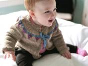 Sweet Bunting Cardigan by Laura Chau - Cosmicpluto Knitting Pattern