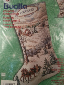 Winter Scene Stocking Counted Cross Stitch Christmas Kit #84412