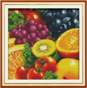 Sunny World Counted Cross Stitch 21- Inch By 21- Inch, Fruits and Vegetables Tomato