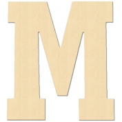 MPI Baltic Birch University Font Letters and Numbers, 13cm , Monogram M