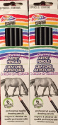 Grafix Charcoal Artist Pencils 2 Pack