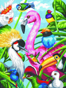 Dimensions Crafts 73-91497 Tropical Feathers Pencil