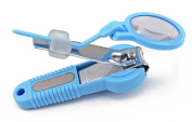 Nail Clipper with Catcher & Nail File Nail Cutter with 2x Magnifying Magnifier