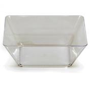 Creative Converting 3 Packs of 4 Total 12 Count Square Plastic Bowl, 13cm , Clear