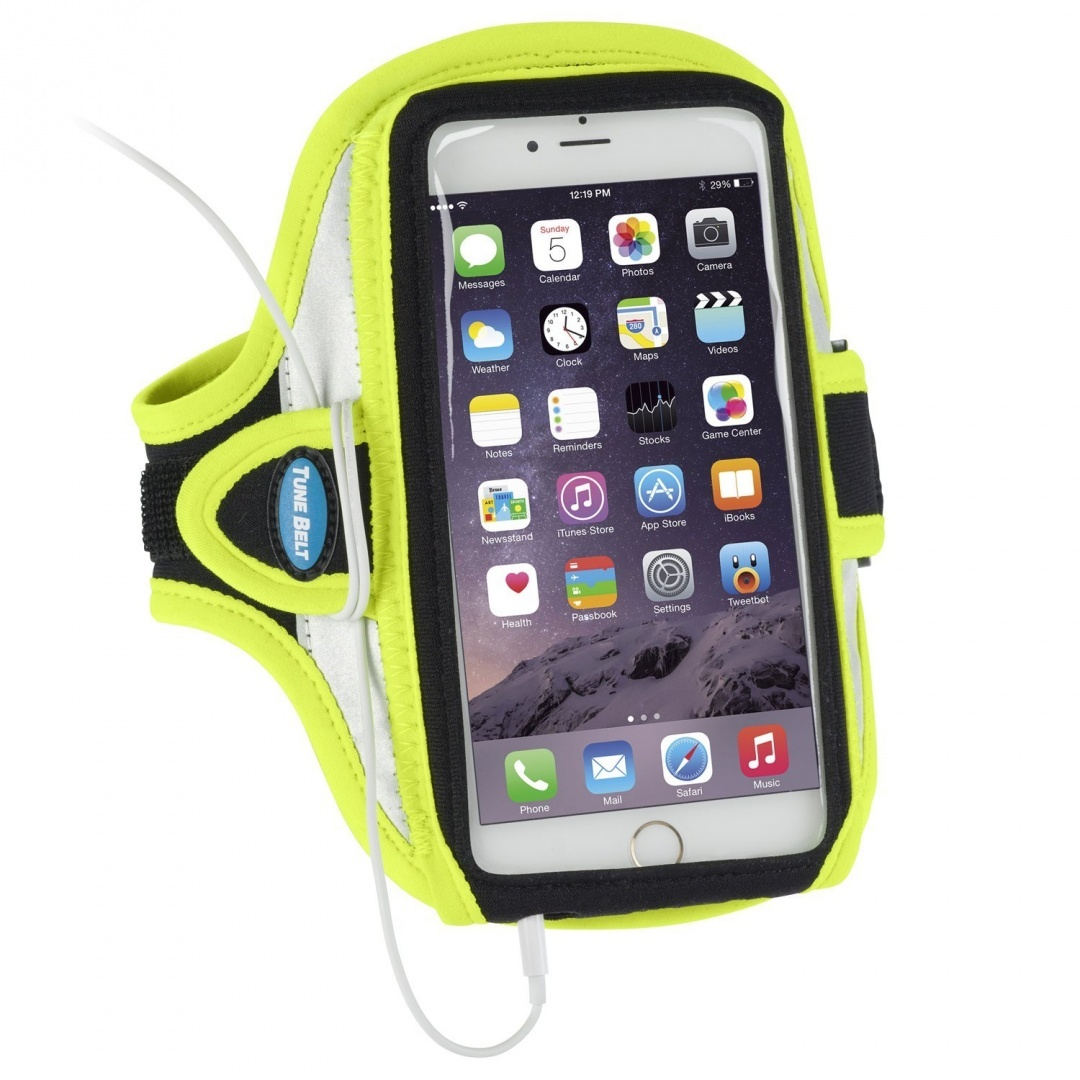 size 40 fbaf3 8a667 Armband for iPhone 6 Plus and iPhone 6S Plus (14cm display) - Reflective  Yellow (Also fits Galaxy Note 4, Note 5, Galaxy S6 edge+ and more)