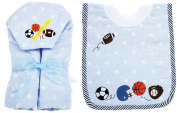 AM PM Kids! Hooded Towel and Pullover Bib Set