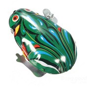 Kyz Kuv Vintage Metal Wind-up Jumping Frog Clockwork Tin Toys Classic Gift