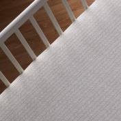 Naturi Crib Fitted Sheet - Tan Herringbone