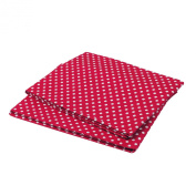 Bacati Pin Dots Crib Fitted Sheet, Red