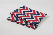 Bacati Ikat Zigzag Crib Fitted Sheet, Navy/Red