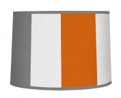 Modern Grey and Orange Stripe Lamp Shade by Sweet Jojo Designs
