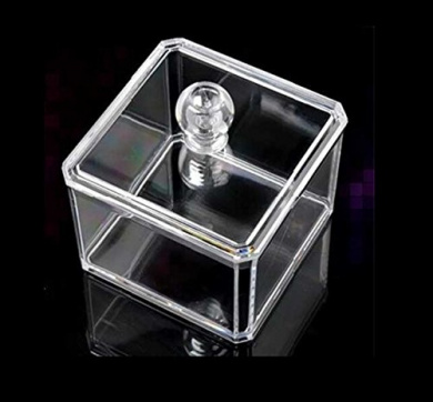 Clear Acrylic Cotton Pad Dispenser/ Cotton Ball Storage Organiser