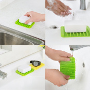 Pack of 5 Assorted Colours Silicone Soap Dish/Soap Holder/Soap Tray