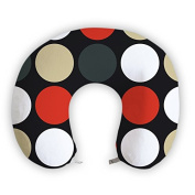 EnjoyIt Big Dots U-Shape Neck Pillow with Perfect Design Cloth with Soft Nap Surface and High Quality Memory Foam Insert