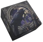 Black Raven & Pentagram Talisman Mirror Trinket Jewellery Box